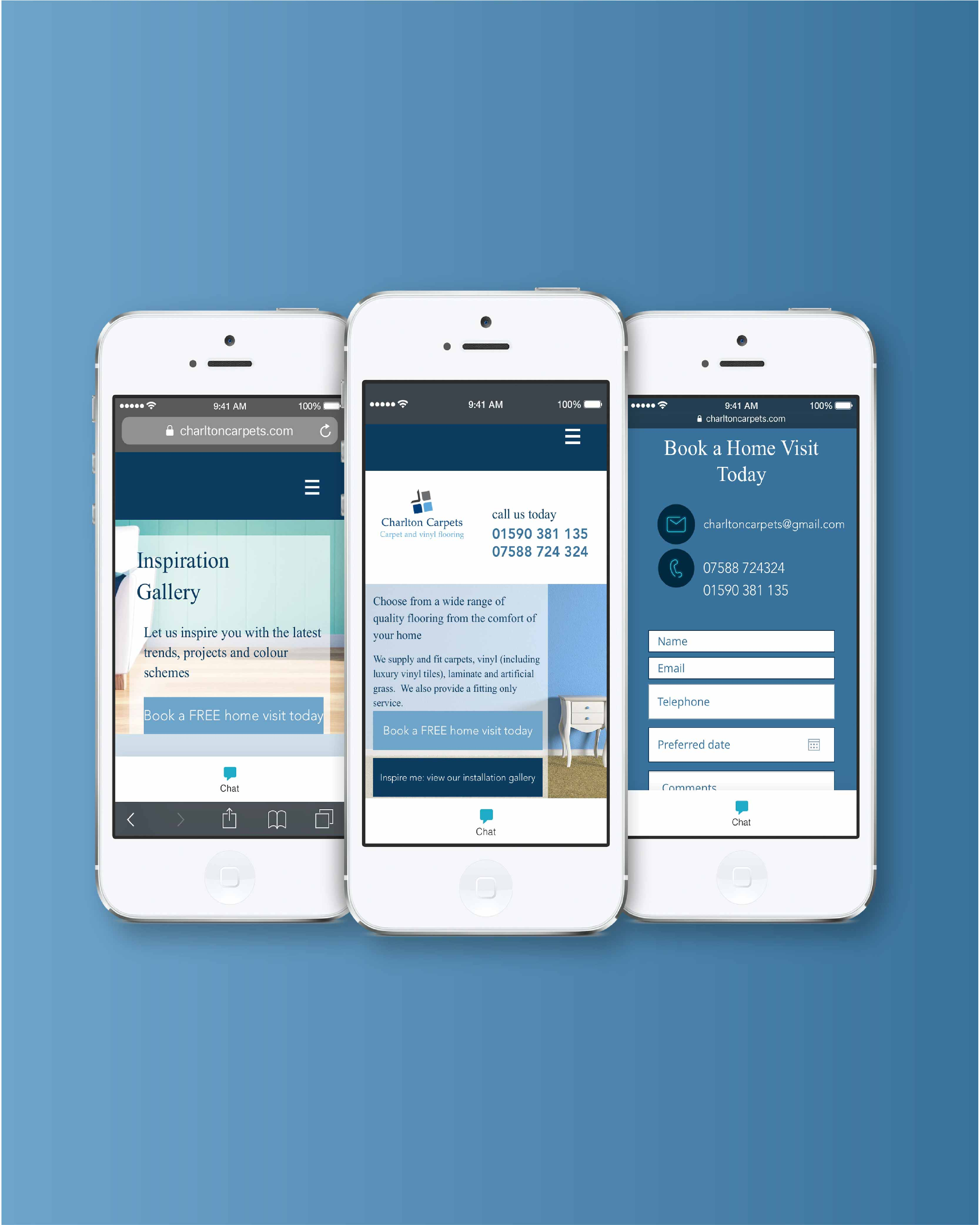 UX for mobile view in blues