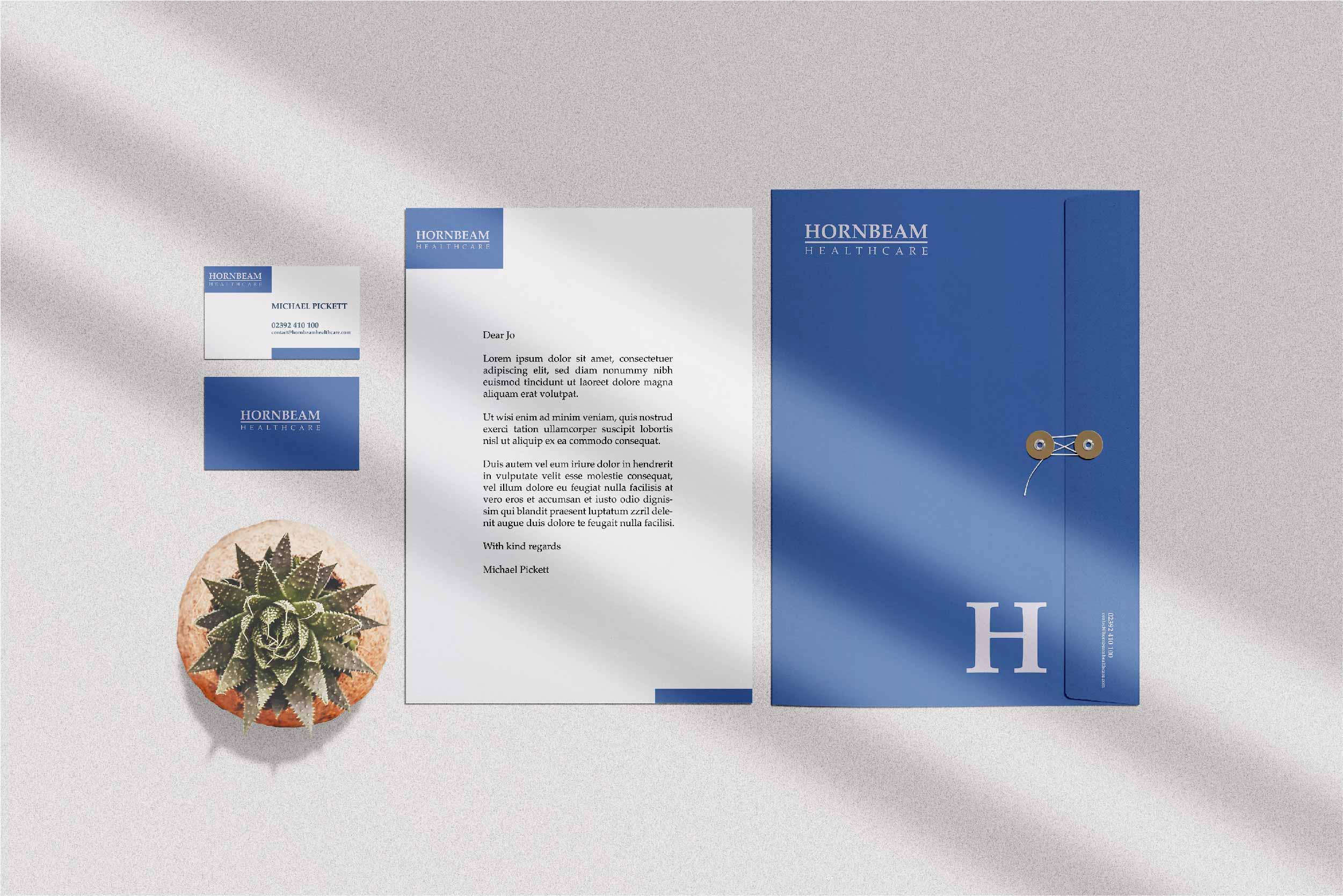 stationery blue H