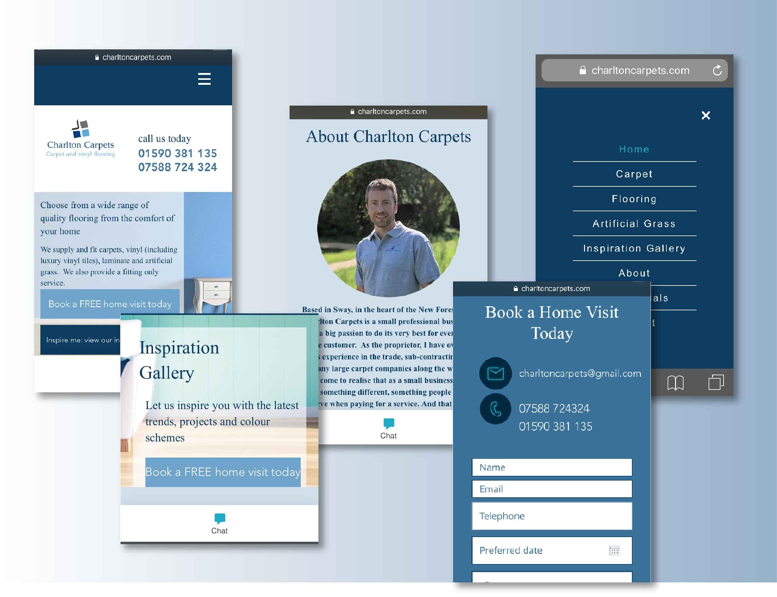 UI phone website