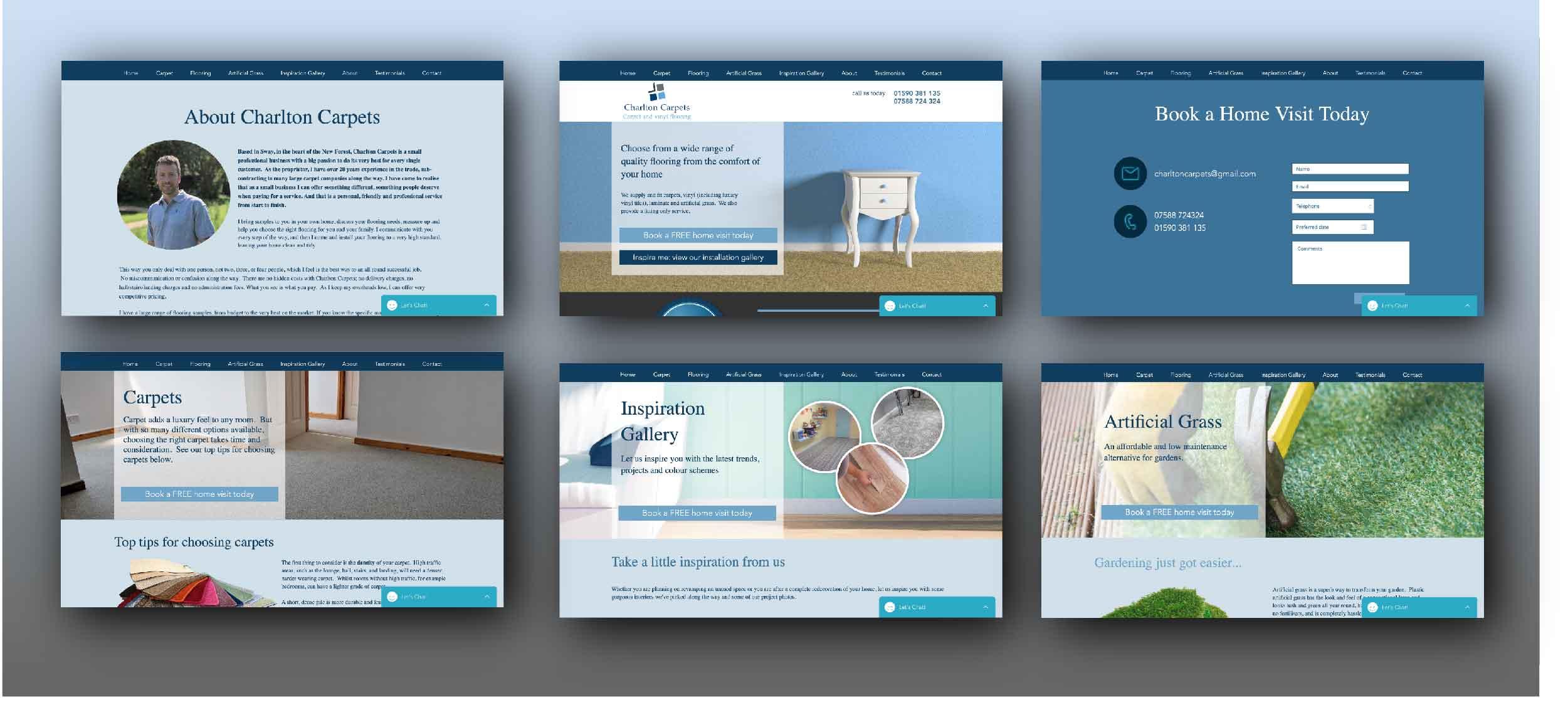 website design carpet fitter