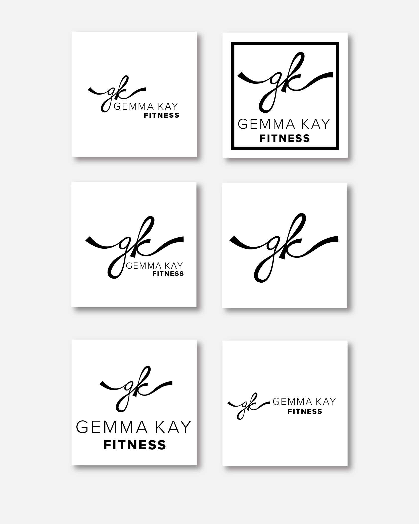 Logo concept for fitness company