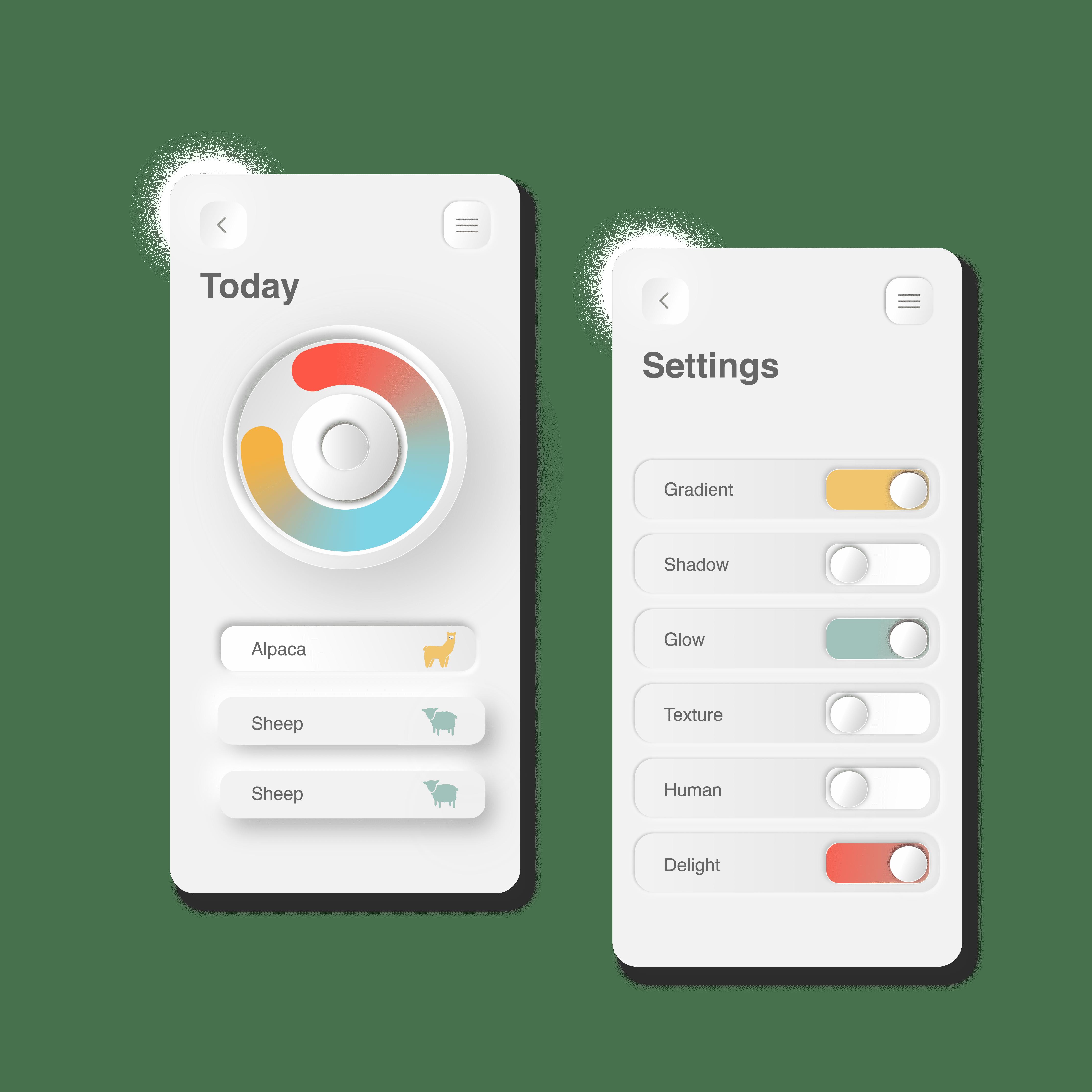 New morphism mobile design