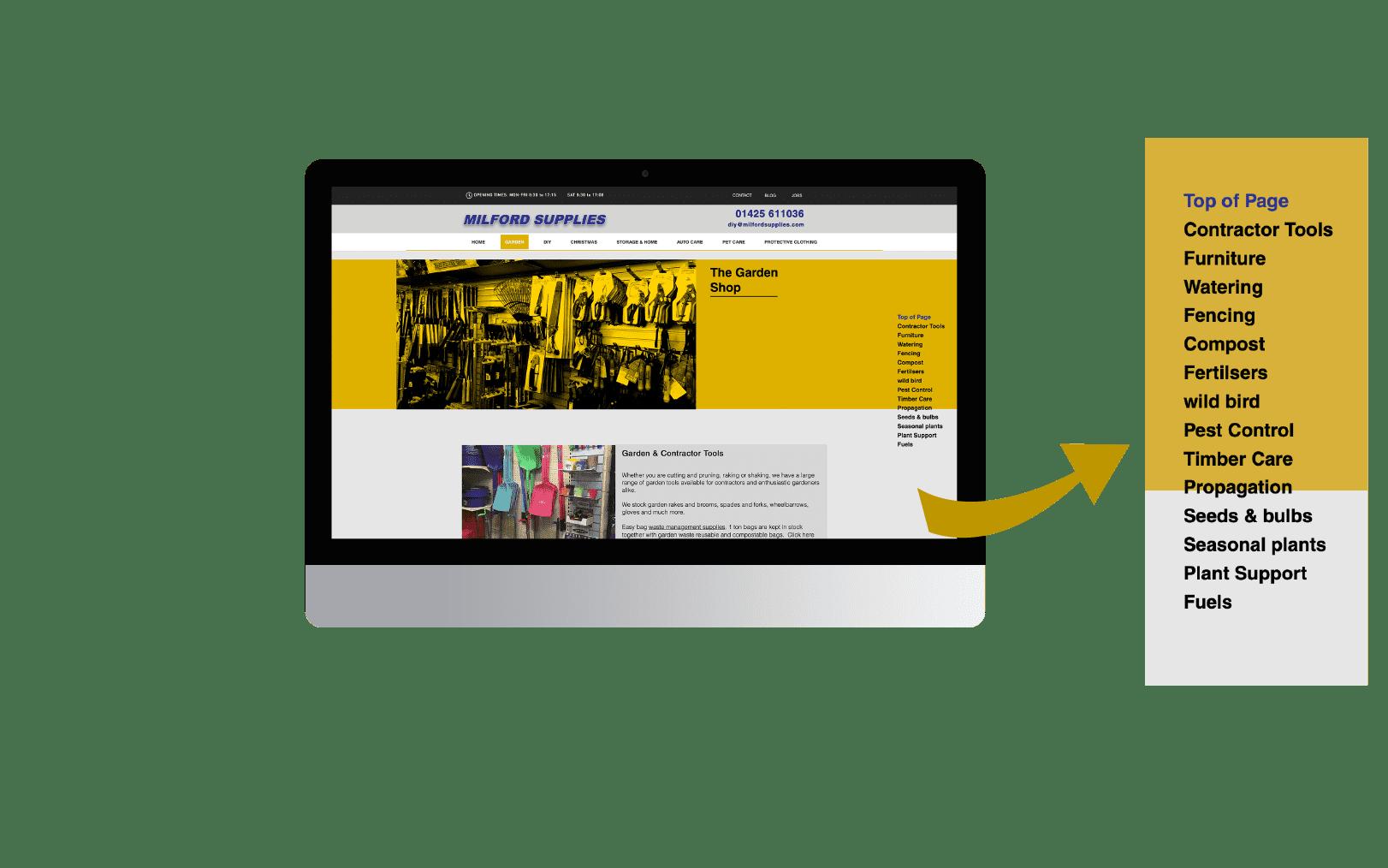 UI Website design for Hardware Store