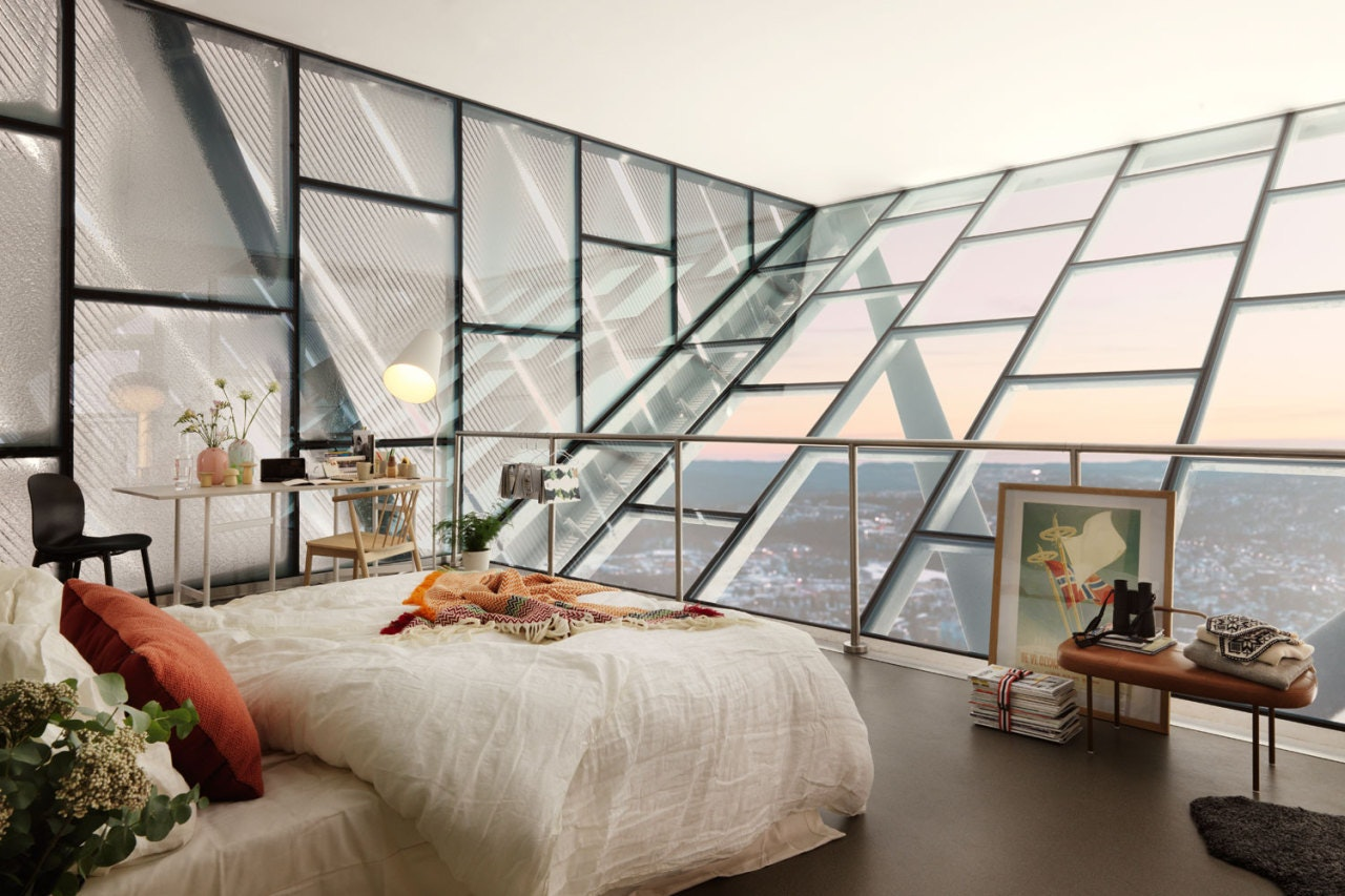 Bedroom on top of the Holmenkollbakken in Oslo (Wow!!)You can win a stay here, for more info see this post (including more pictures!)Follow Gravity Home: Blog - Instagram - Pinterest - Bloglovin - Facebook