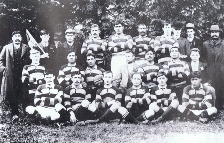 Rugby team during influenza epidemic