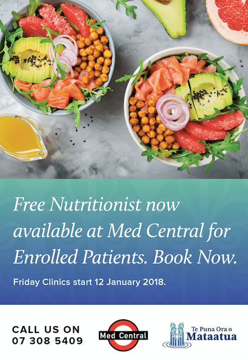 Free nutritionist at med central
