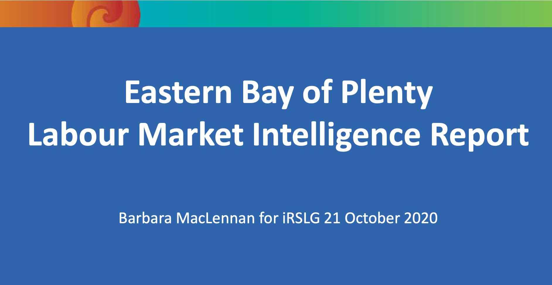 EBOP Labour Market Intelligence Report October 2020
