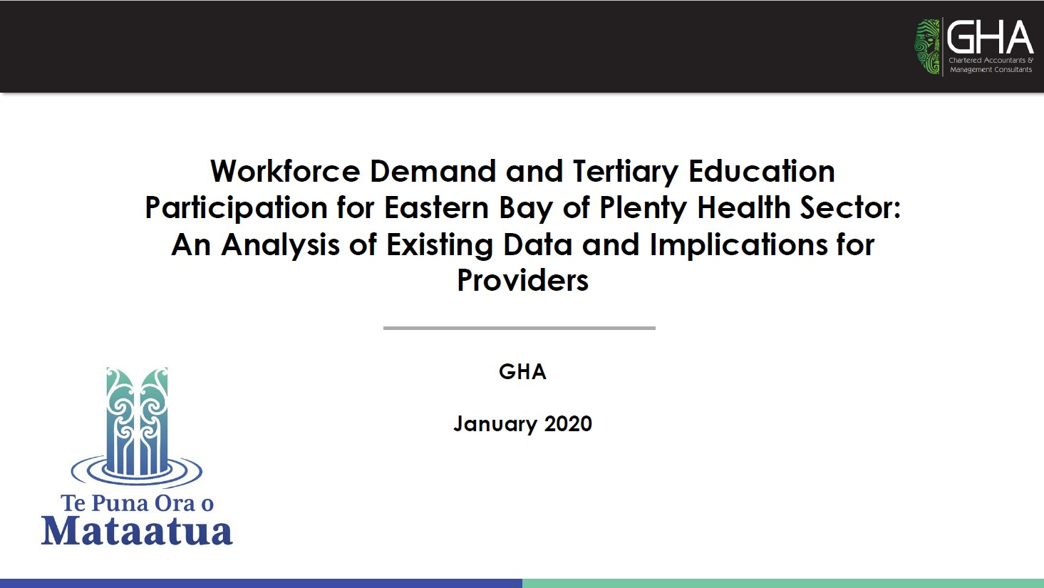 Report: Workforce Demand and Tertiary Education Participation for EBOPHealth Sector