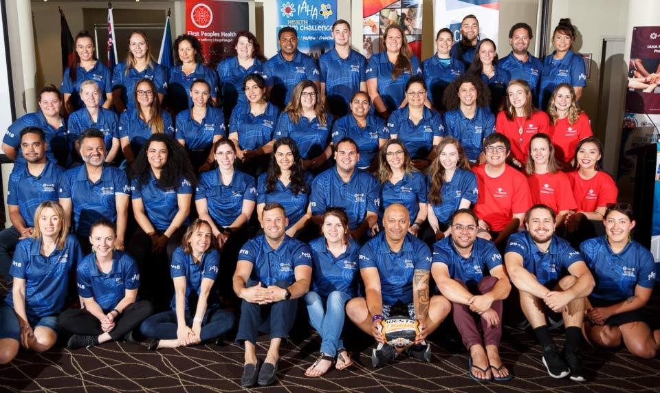 Group photo of Ngā Pou Mana team and members