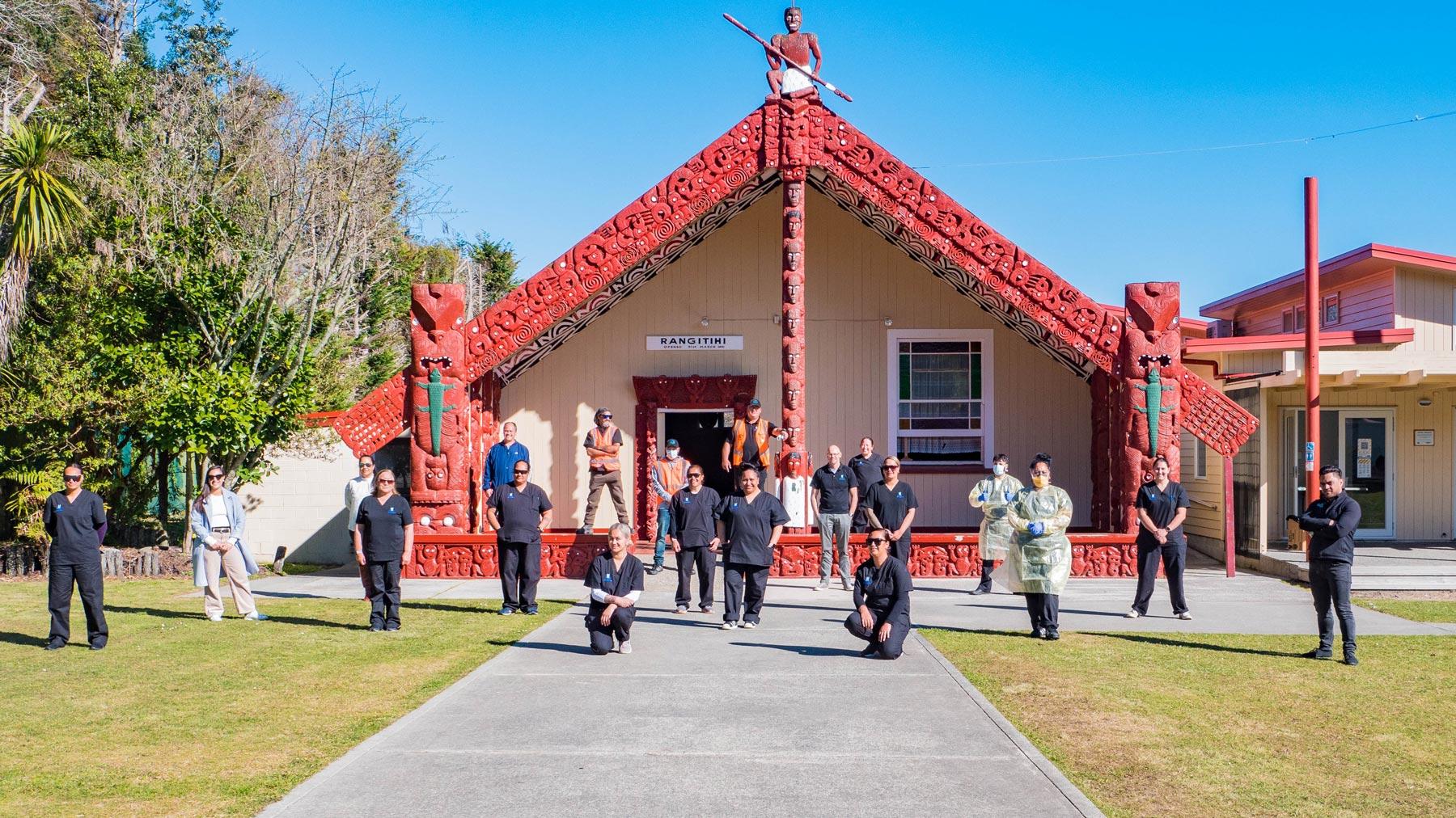 Staff at Tāheke marae