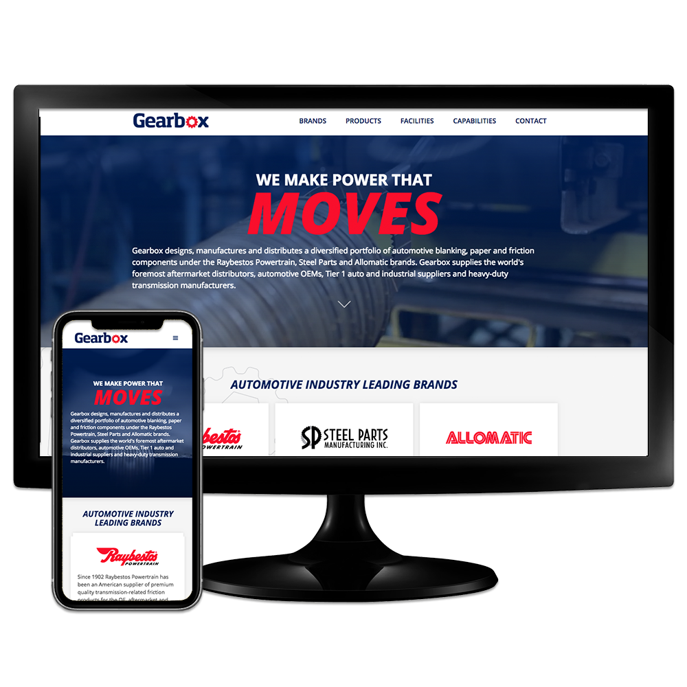 Gearbox Companies - Crawfordsville, IN Website Design by Media Wrench