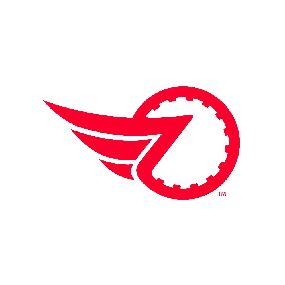 Raybestos Powertrain Flying Friction Icon Logo Crawfordsville, IN Logo Design by Media Wrench LLC