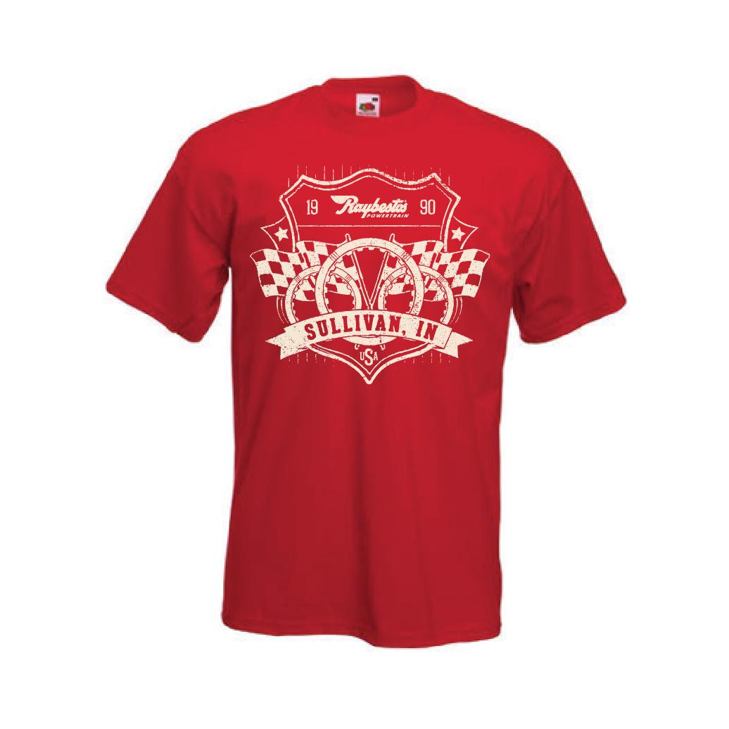 Raybestos Powertrain Retro T-shirt Screen Print - Crawfordsville, IN Apparel, Clothing, T-shirt Design by Media Wrench LLC