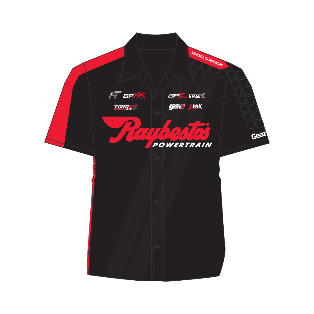 Raybestos Powertrain Performance Racing Pit Crew Shirt - Crawfordsville, IN Apparel, Clothing, T-shirt Design by Media Wrench LLC
