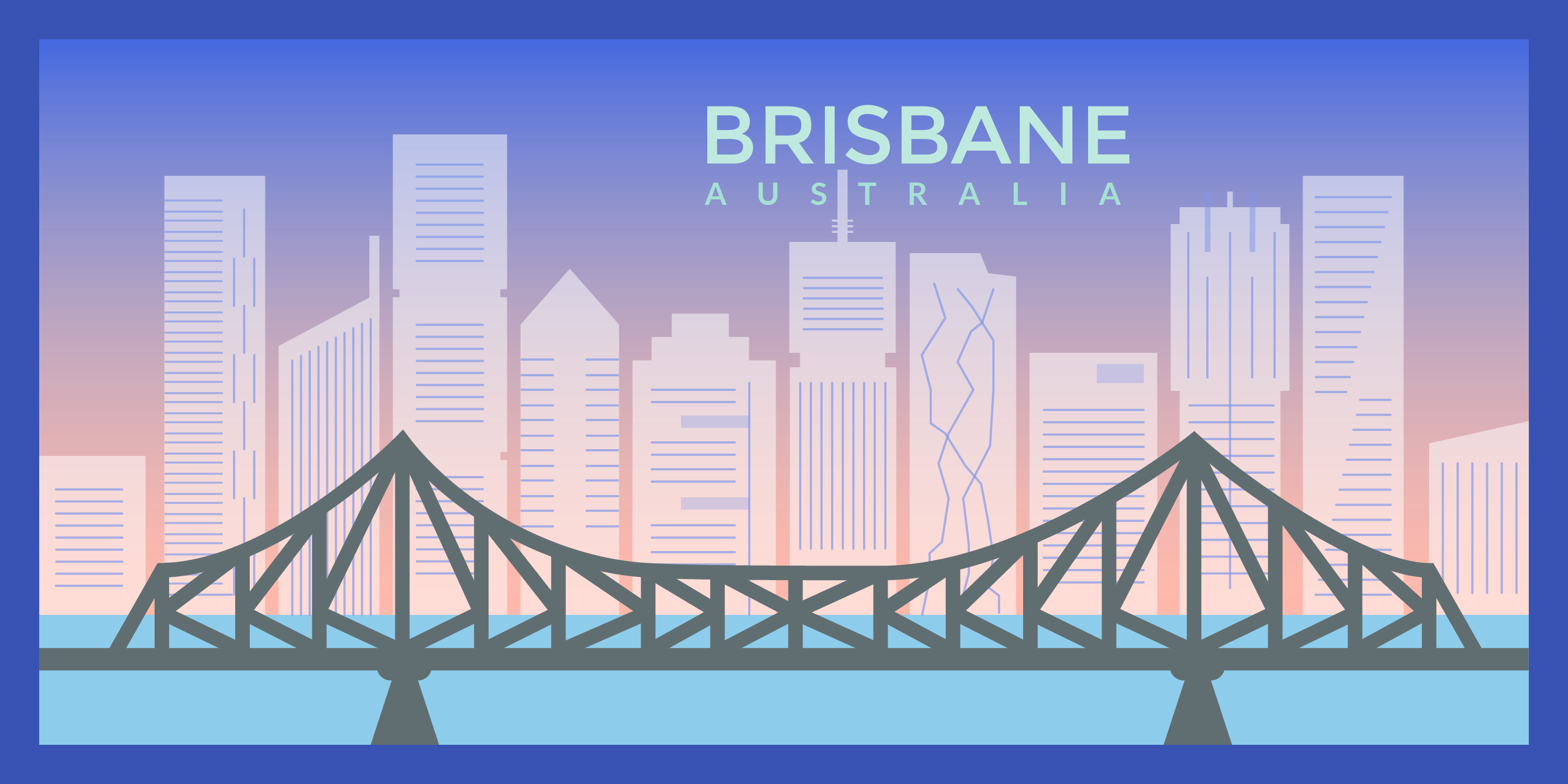 Illustration of Brisbane, Australia