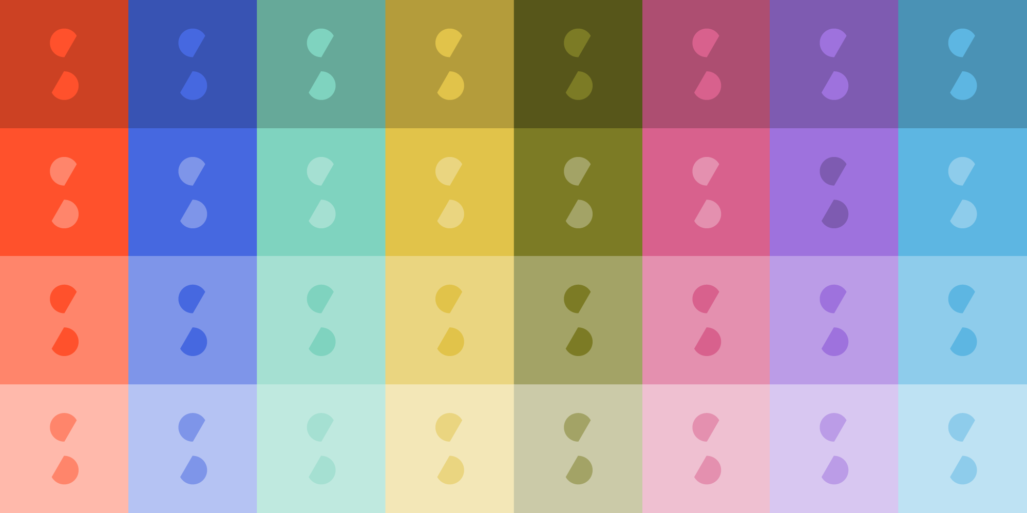 spur: Artistic arrangement of spur logos in various colours