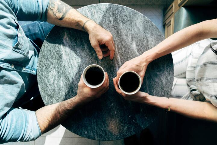 People sharing a coffee