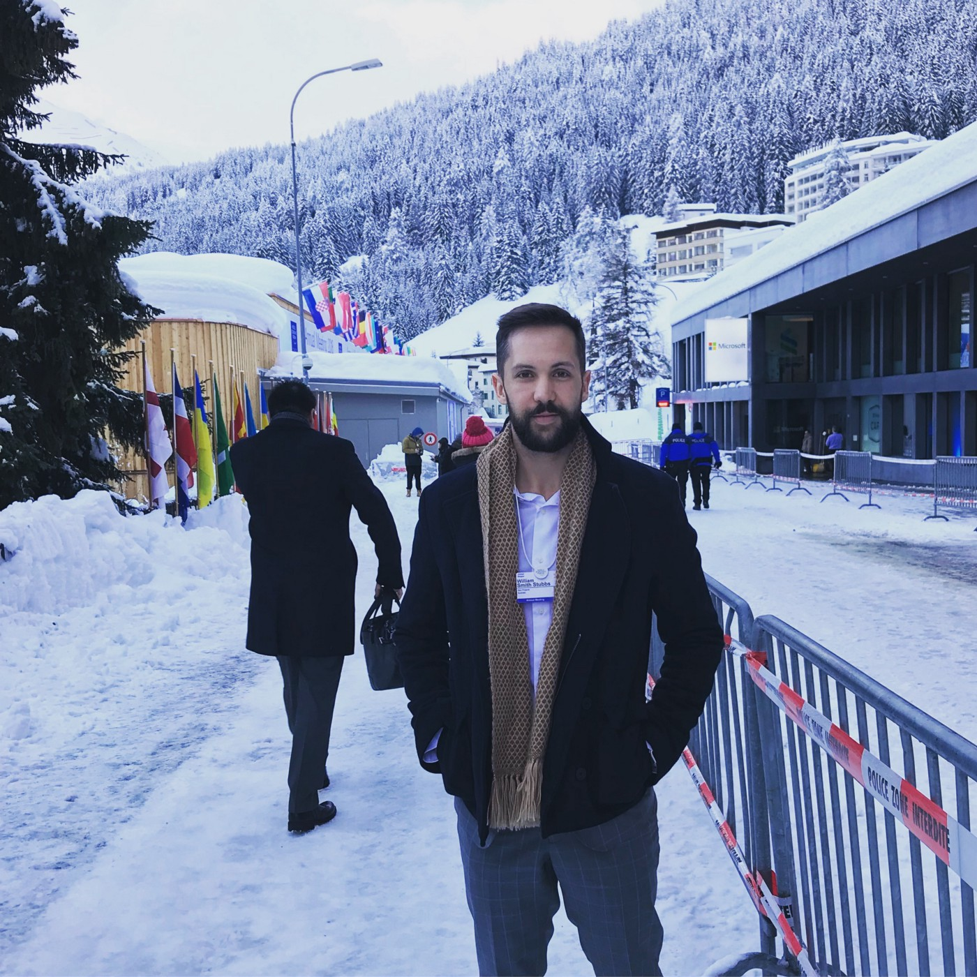 Submachine guns, social impact, and selfies: A trip to Davos.