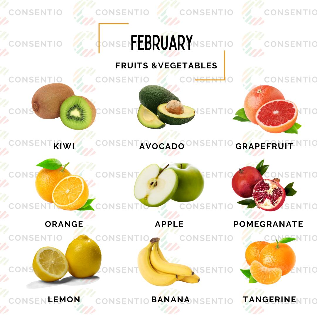 february fruits
