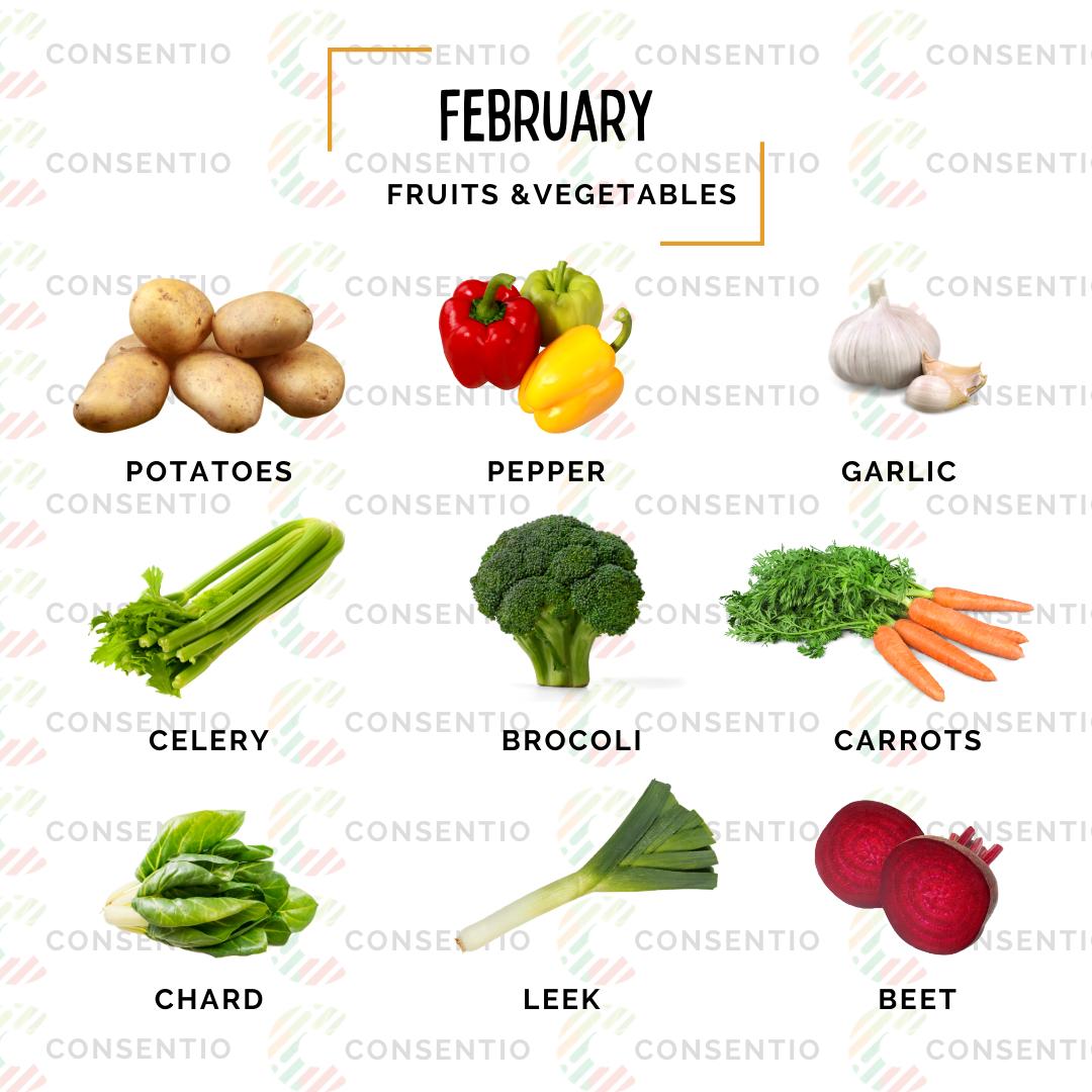 february vegetabes