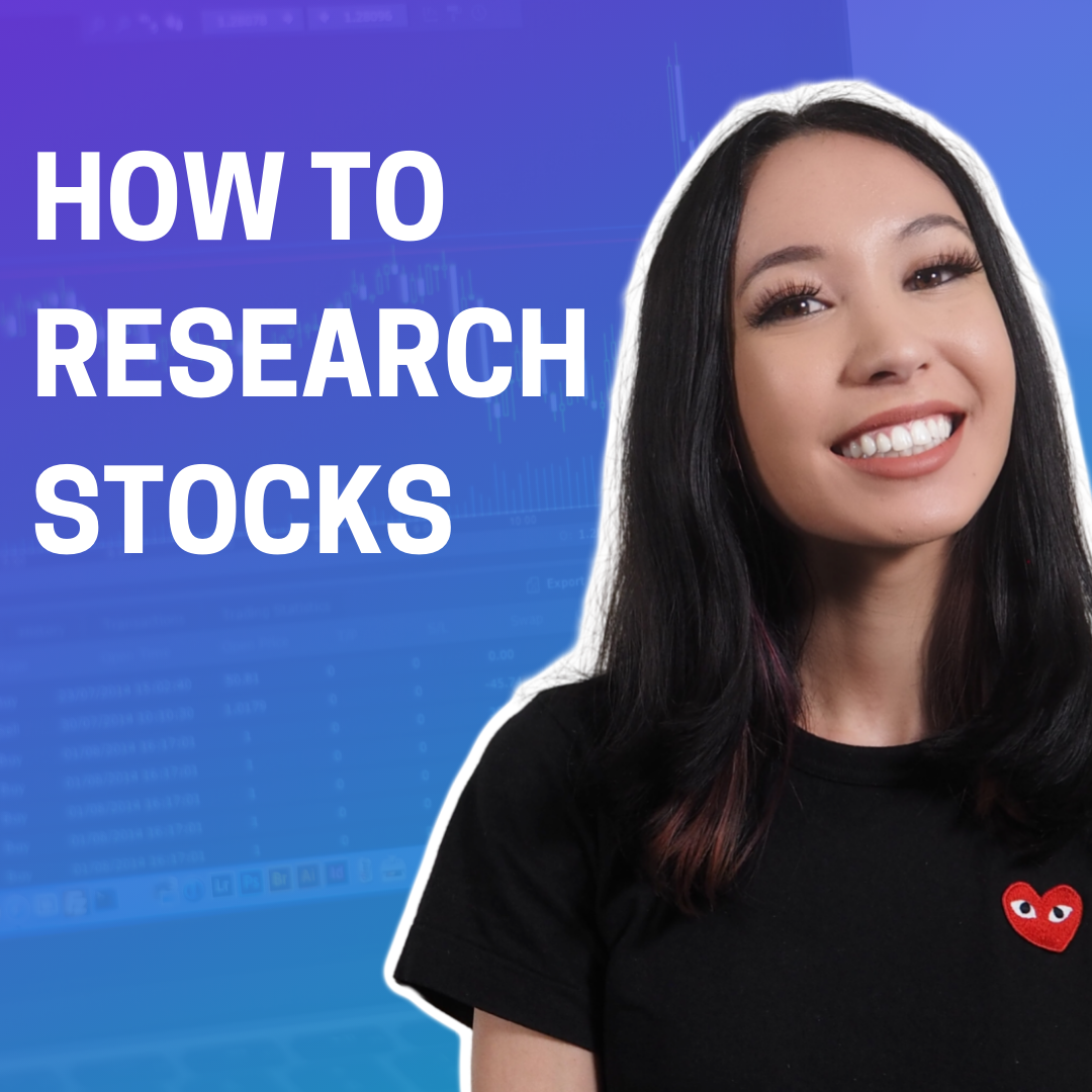 How to research stock, one of the videos she has created for her youtube audience.