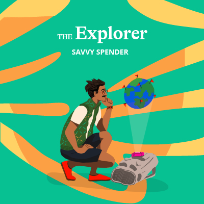 Jess took the Quirk money personality test and received the explorer personality type.