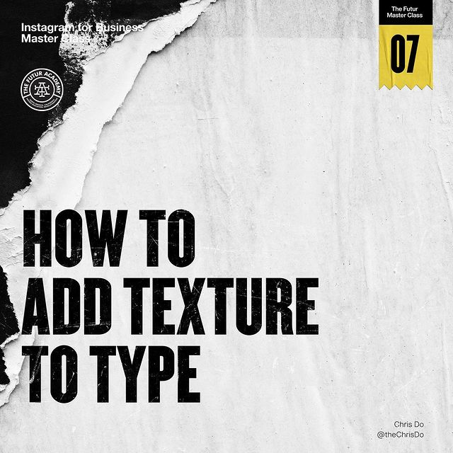 How To Add Texture To Type In Photoshop