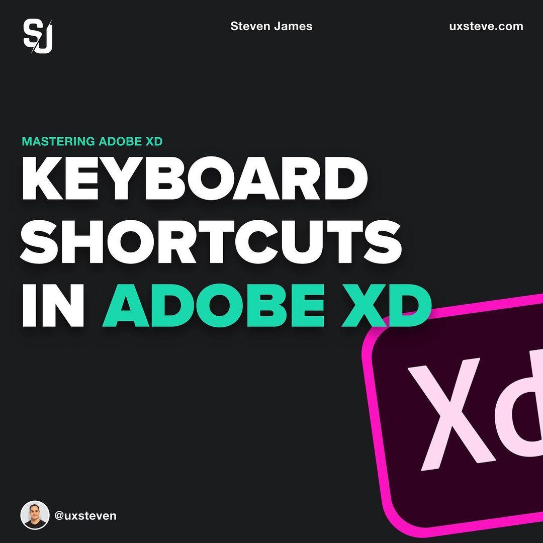 Keyboard Shortcuts In Adobe XD