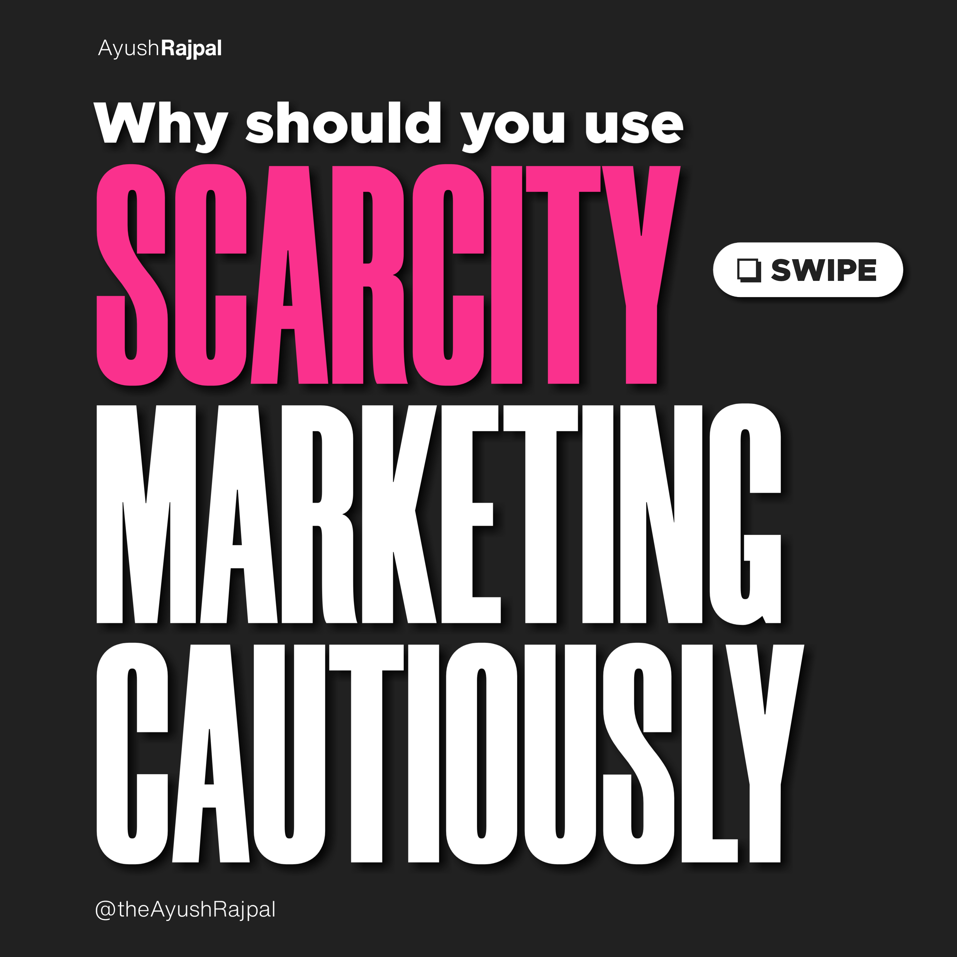 Why you should use Scarcity marketing cautiously