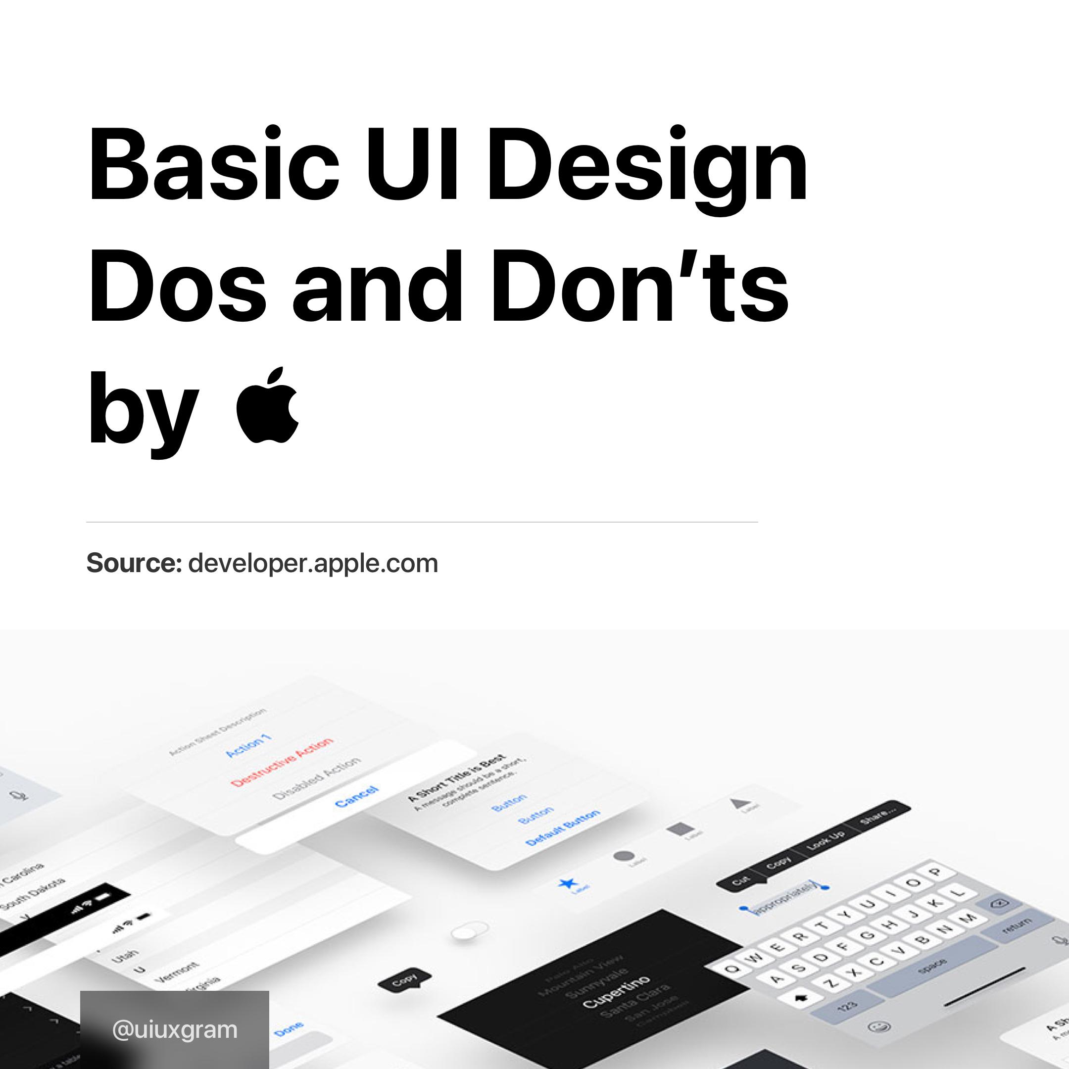 Basic UI design tips by Apple