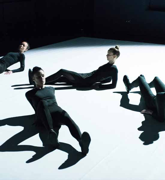 Vis Motrix performance of four contemporary dancers, choreographed by CocoonDance