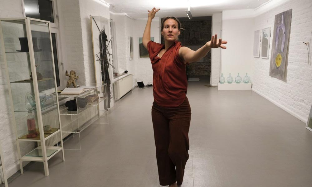 Anna Kempin captured performing at Atlas 2 contemporary dance project while standing