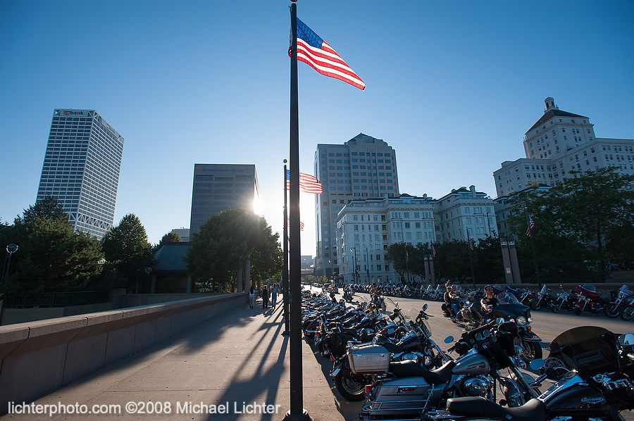 Harley-Davidson Anniversary, 2008, Michael Lichter Motorcycle Photography