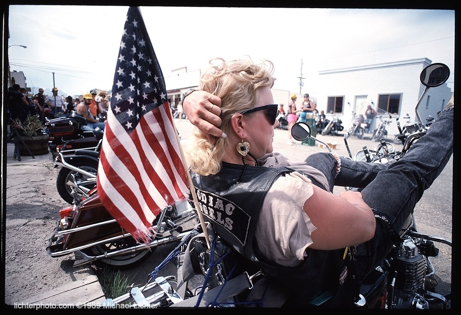 Fairplay Ladies Run, 1989, Michael Lichter Motorcycle Photography