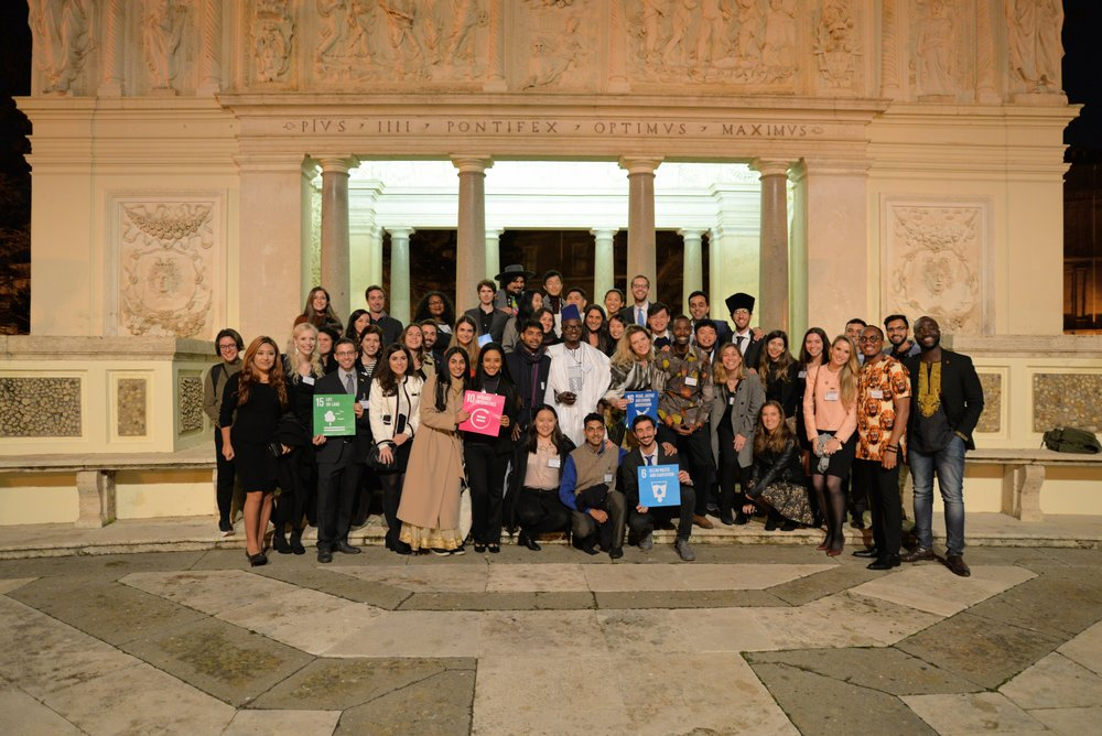Vatican Youth Symposium 2018 participants attend the Global Village Dinner & Drinks the day before the official proceedings . Photo Credits: Gabriella Marino/PAS