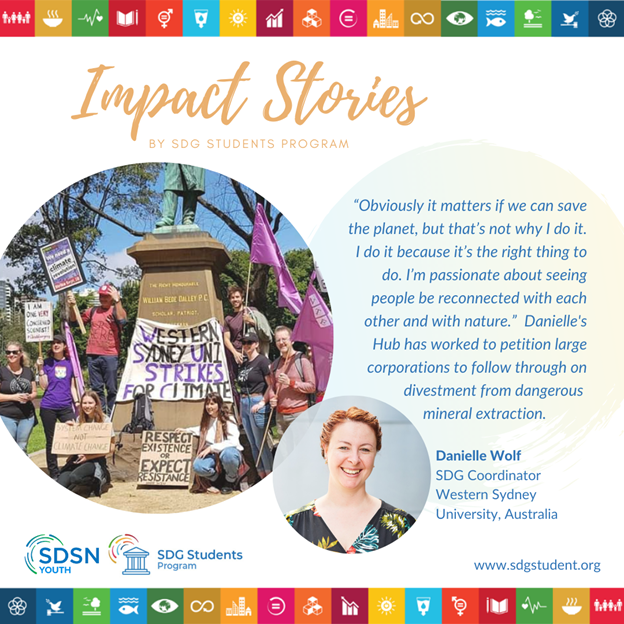 Case Study: Danielle's story as a SDG Coordinator