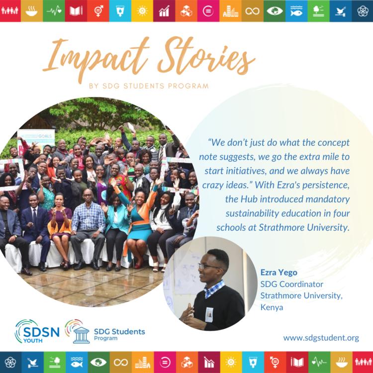 Case Study: Ezra's story as a SDG Coordinator