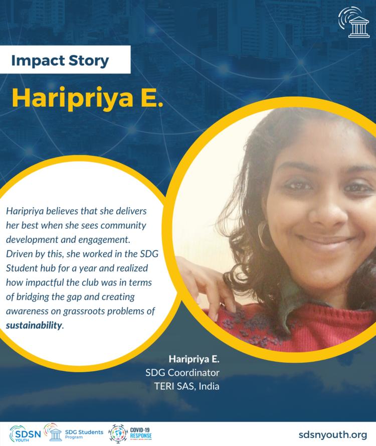 Case Study: Haripriya's story as a SDG Coordinator