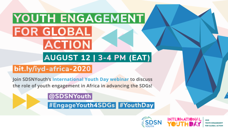 """High Level Webinar on Youth and Sustainable Development in Africa On the International Youth Day 2020 """"Youth Engagement for Global Action"""""""