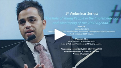 MY World México Webinar: The role of young people in the implementation and monitoring of the 2030 Agenda