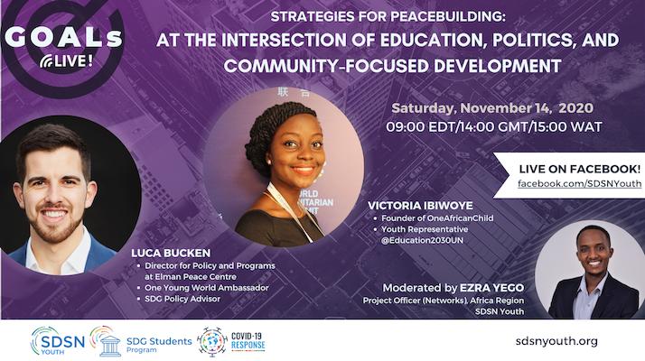GOALs Live! Strategies for Peacebuilding