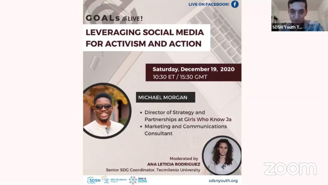 GOALs Live! Social Media for Activism