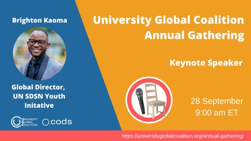 Global Director Brighton Kaoma to deliver keynote address at the University Global Coalition Annual Gathering 2021