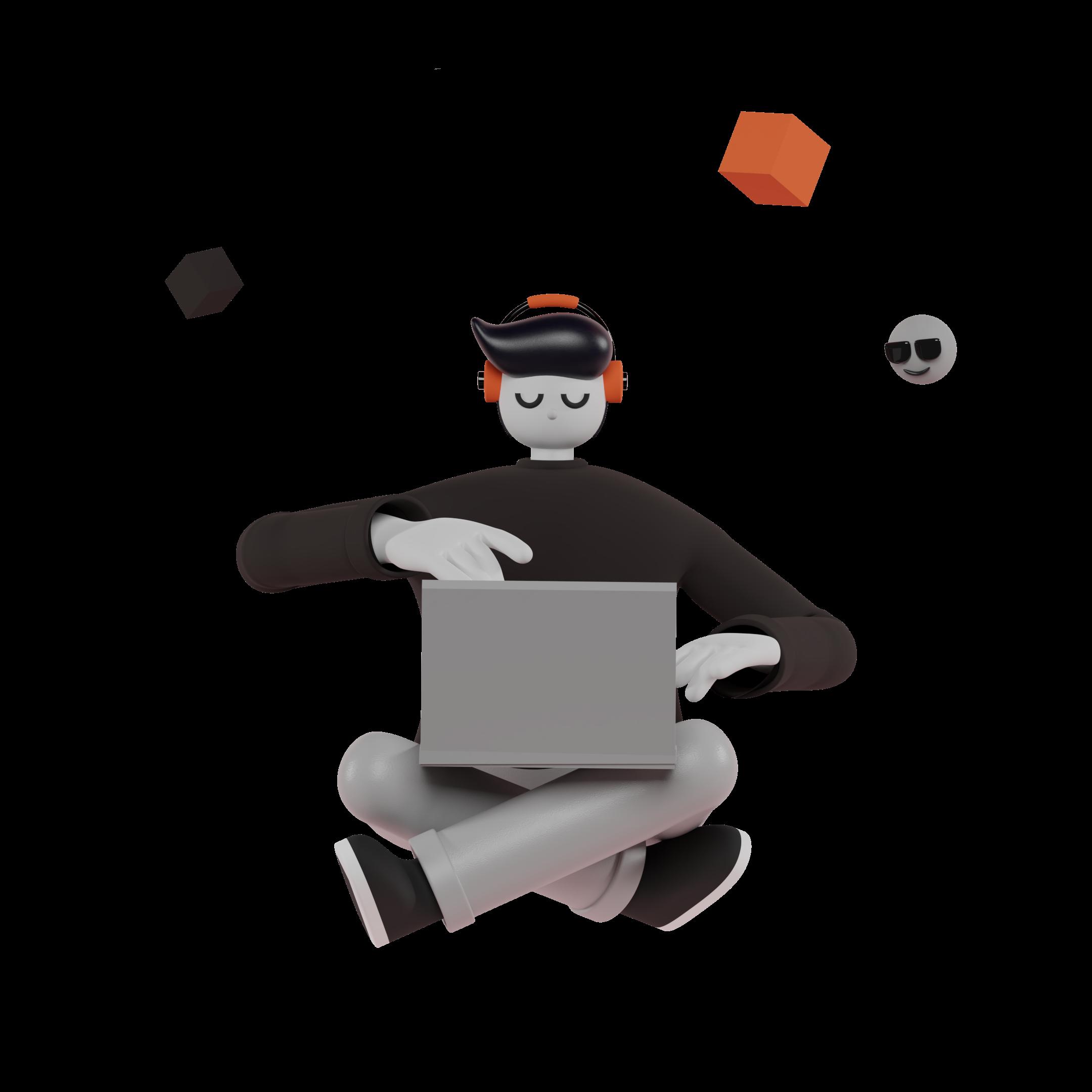 Saly 3d illustration