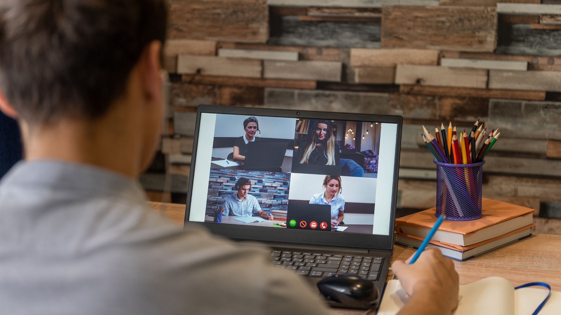 Remote worker video conferencing