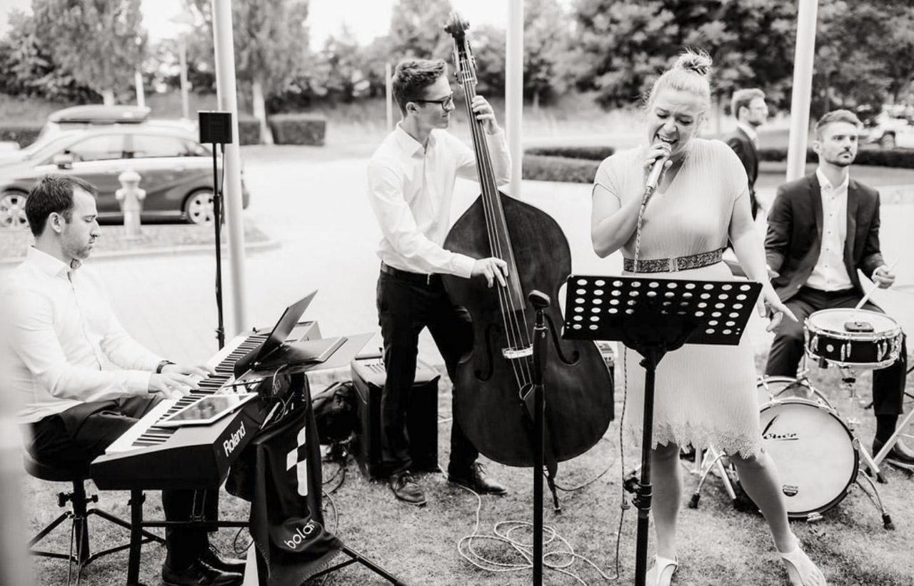 Hochzeitsband, Bolandi Trio mit Sängerin Regy, live auf einer Hochzeit in Ingolstadt 2019