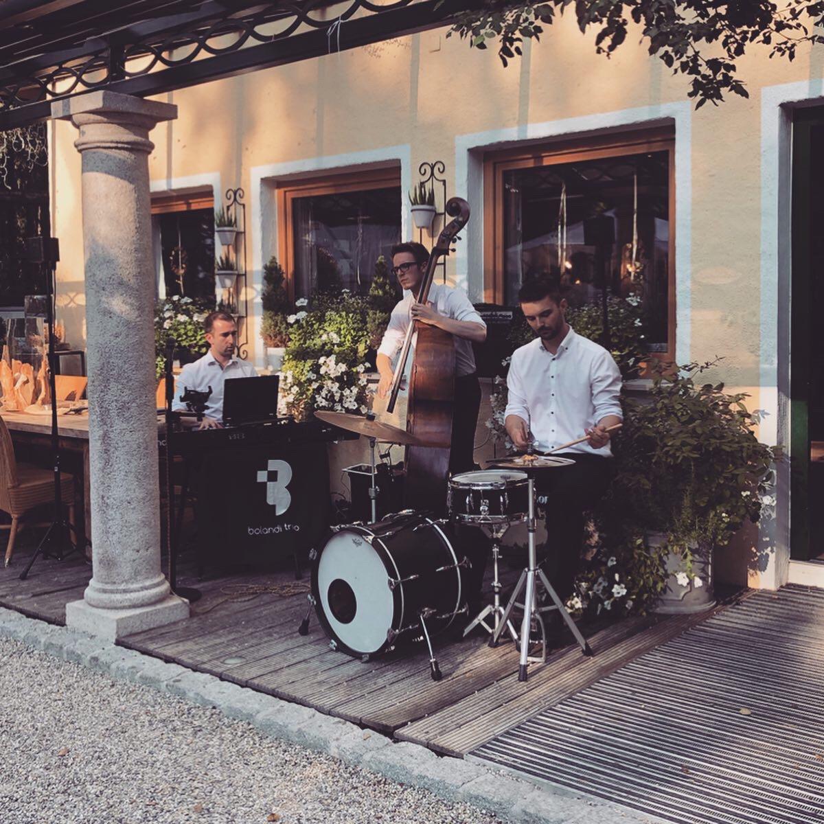 Jazzband, Bolandi Trio, live auf einer Hochzeit 2018