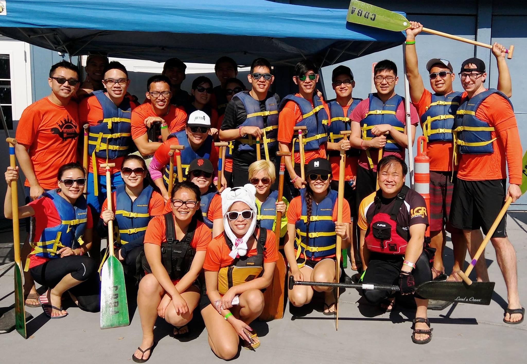 TAP-SF 2016 TAPasaurSF Dragonboat team