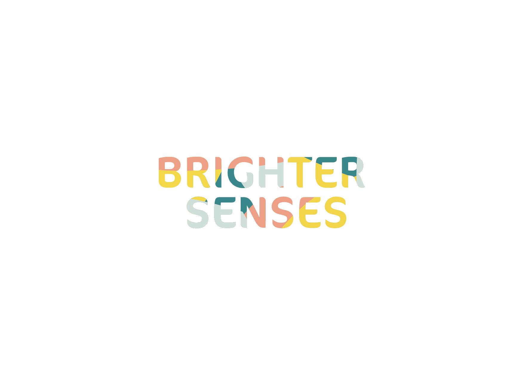 A logo design that says brighter senses