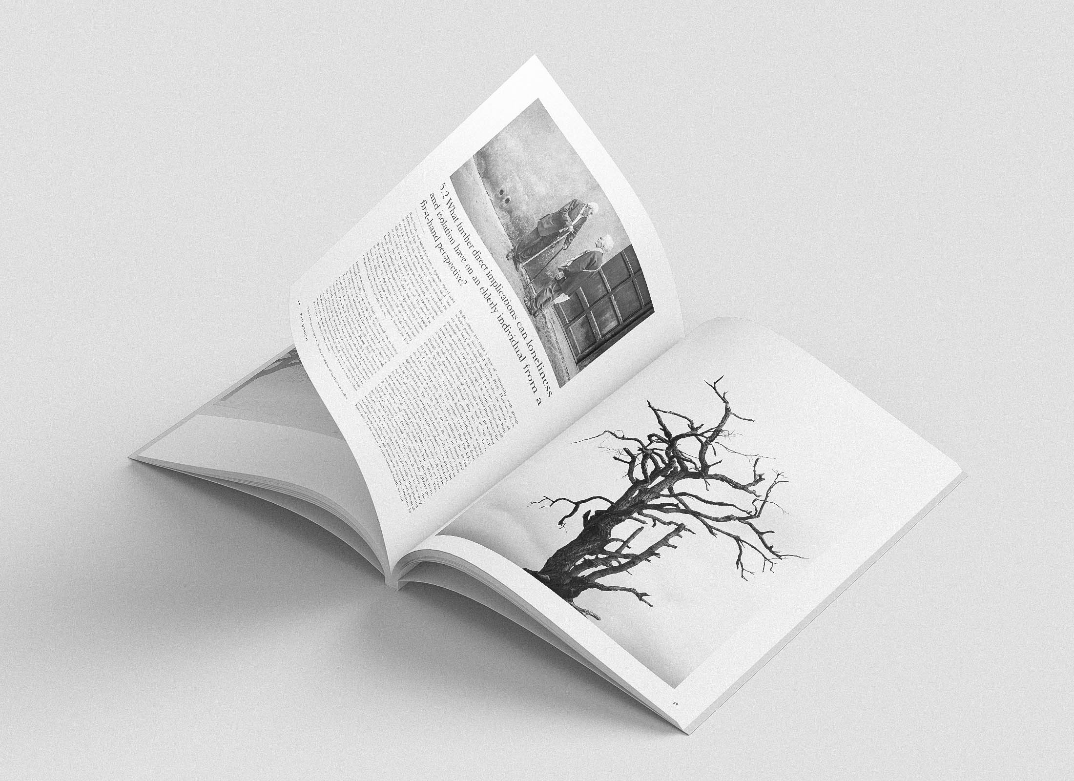 Brochure design for a loneliness and isolation research paper